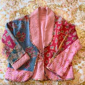 Hand Stitched Detail Reversible Floral Jacket